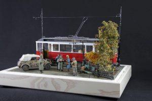 38009 EUROPEAN TRAMCAR (StraBenbahn Triebwagen 641) w/CREW & PASSENGERS + Paolo Crippa