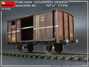 "35288 RAILWAY COVERED GOODS WAGON 18t ""NTV"" TYPE + Evgeny Solodukhin"