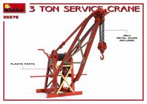 3D renders 35576 3吨服务起重机