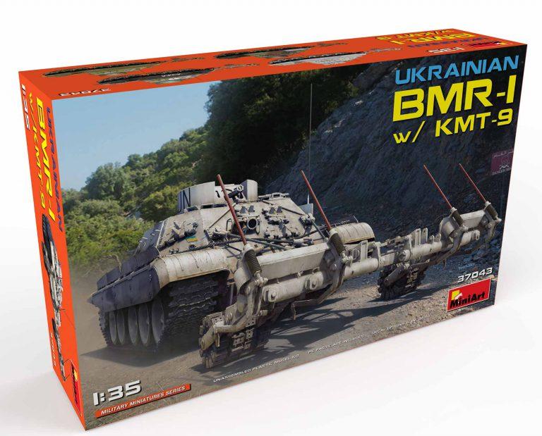 37043 乌克兰BMR-1装甲扫雷车 带KMT-9扫雷器