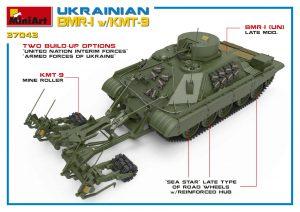 3D renders 37043 UKRAINIAN BMR-1 w/KMT-9