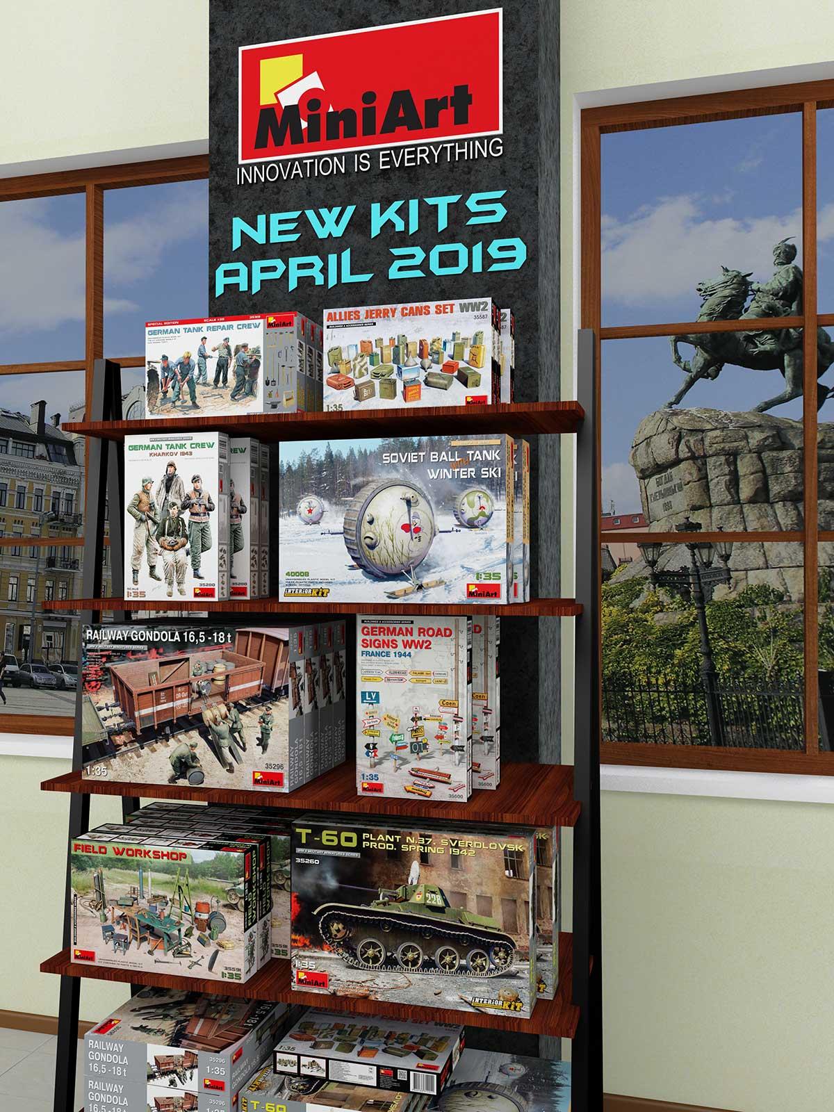 New MiniArt's Kits Available April 2019