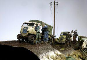 35203 Personenwagen TYP 170V SALOON + 35224 T-60 PLANT No.37 EARLY SERIES. INTERIOR KIT + 35045 SOVIET DIVISIONAL ARTILLERY + Dmitrii Slivkov