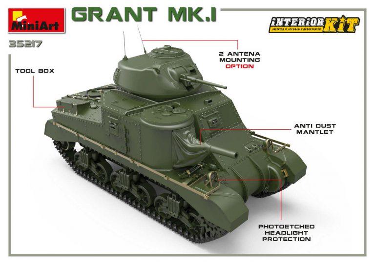 35217 Grant Mk. I mit Inneneinrichtung