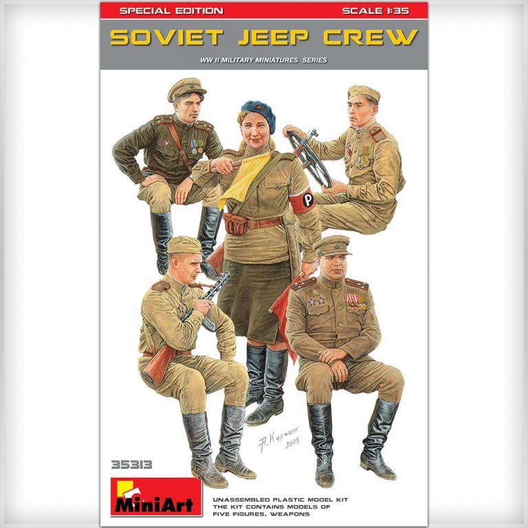 ソビエトジープクルー5体入 特別版(武器・装備品付)