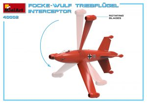 3D renders 40002 福克 沃尔夫TRIEBFLUGEL拦截机