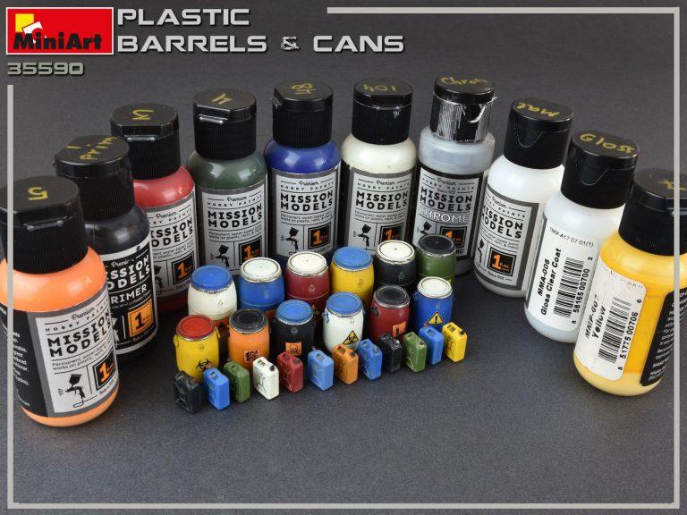 35590 PLASTIC BARRELS & CANS