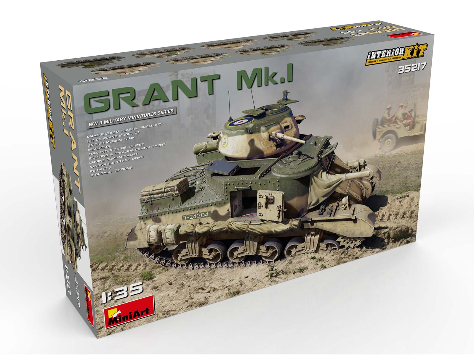 New Photos of Kit: 35217 GRANT Mk.I INTERIOR KIT