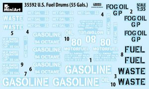 Content box 35592 U.S. FUEL DRUMS 55 GALS.