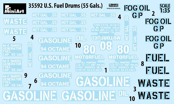 35592 U.S. Treibstofffässer 55 Gallonen