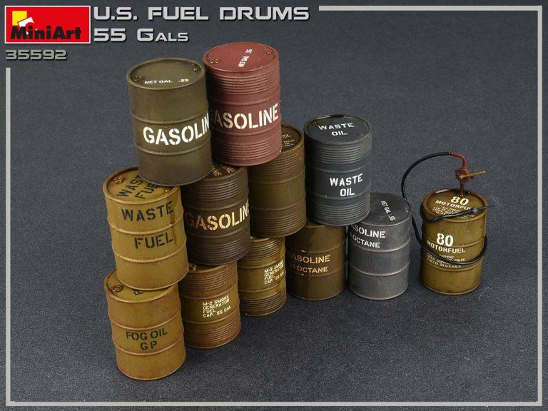 35592  アメリカ軍燃料缶55ガロンセット