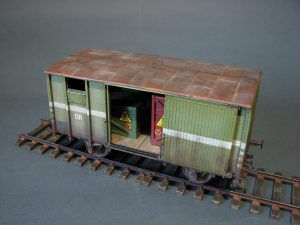 "35288 RAILWAY COVERED GOODS WAGON 18t ""NTV"" TYPE + Igor Belik"