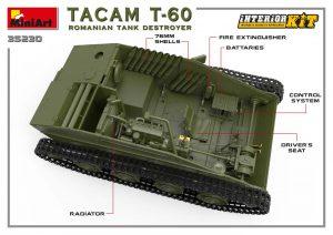 3D renders 35230 罗马尼亚T-60坦克歼击车(全内构版)