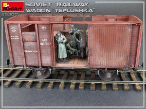 """Photos 35300 Sowjetischer Eisenbahnwaggon mit Ofen """"Tepluschka"""""""