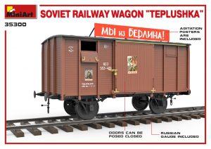 """3D renders 35300 Sowjetischer Eisenbahnwaggon mit Ofen """"Tepluschka"""""""