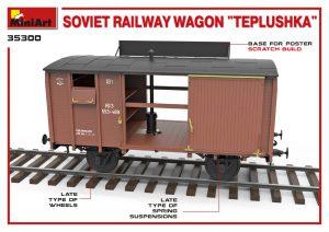 "3D renders 35300 SOVIET RAILWAY WAGON ""TEPLUSHKA"""
