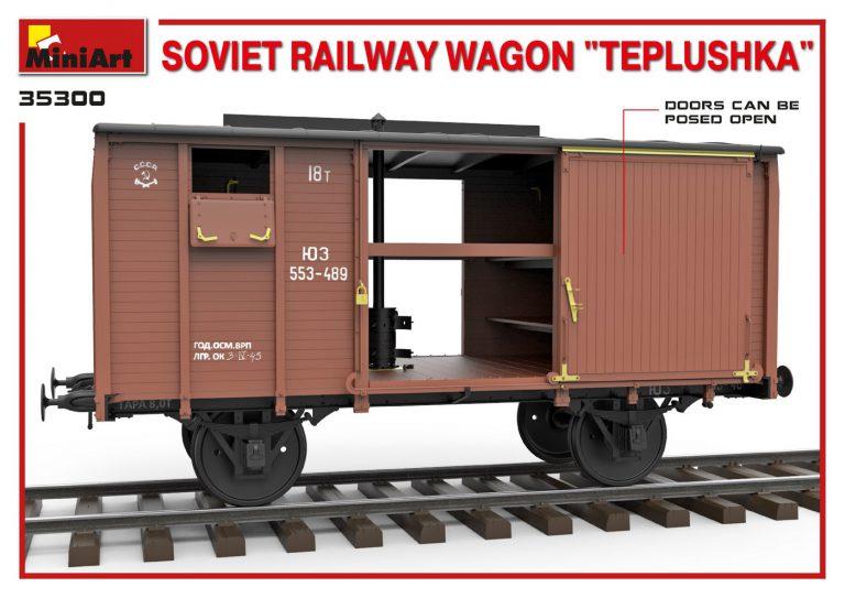 "35300 SOVIET RAILWAY WAGON ""TEPLUSHKA"""