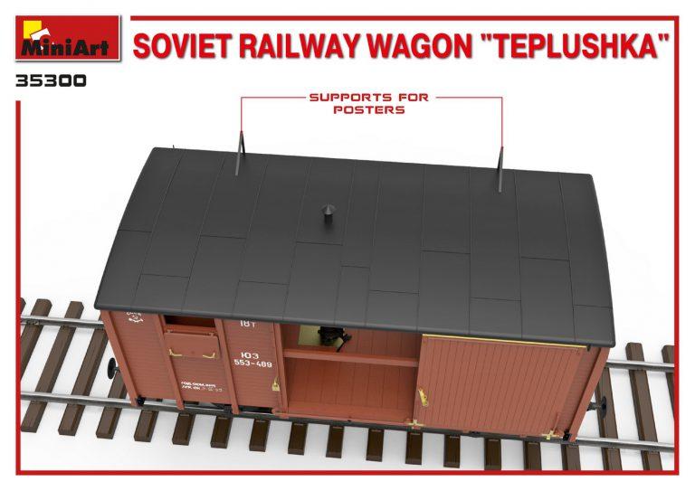 """35300 Sowjetischer Eisenbahnwaggon mit Ofen """"Tepluschka"""""""