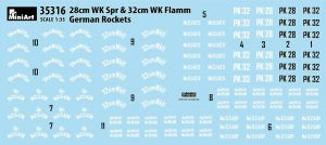 Content box 35316 GERMAN ROCKETS 28cm WK Spr & 32cm WK FLAMM