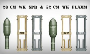 Side views 35316 GERMAN ROCKETS 28cm WK Spr & 32cm WK FLAMM