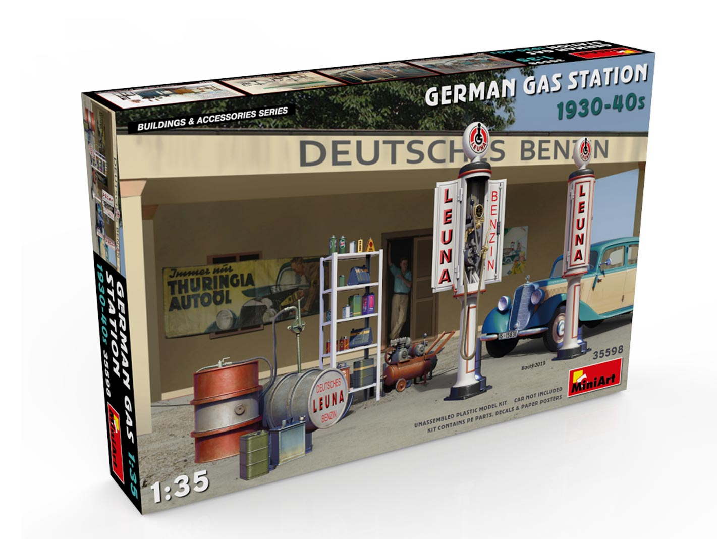 New Photos of Kit: 35598 GERMAN GAS STATION 1930-40s