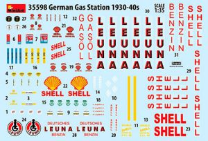 Content box 35598 GERMAN GAS STATION 1930-40s