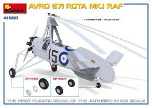 3D renders 41008 英国皇家空军 AVRO 671 ROTA MK.I 旋翼机