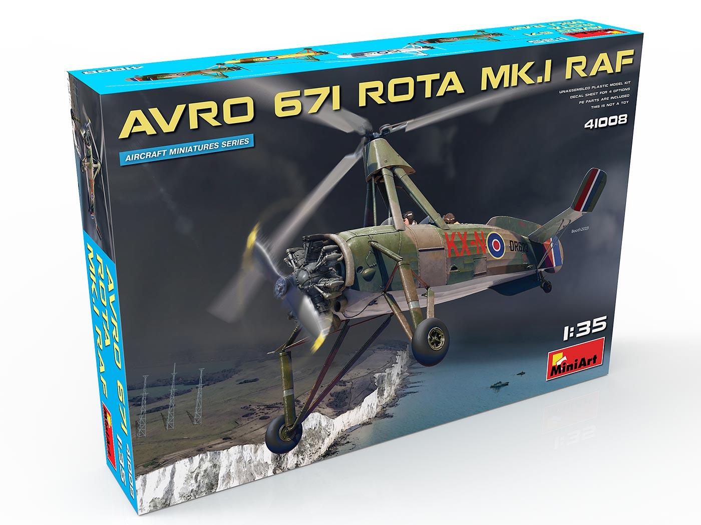 New 3D Renders of Kit: 41008 AVRO 671 ROTA MK.I RAF
