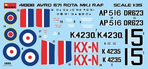 Content box 41008 英国皇家空军 AVRO 671 ROTA MK.I 旋翼机