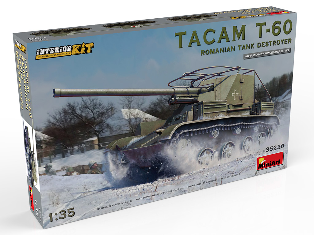 New Photos of Kit: 35230 TACAM T-60 ROMANIAN TANK DESTROYER. INTERIOR KIT