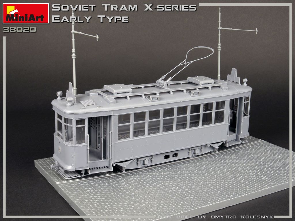 New Build Up of Kit: 38020 SOVIET TRAM X-SERIES. EARLY TYPE
