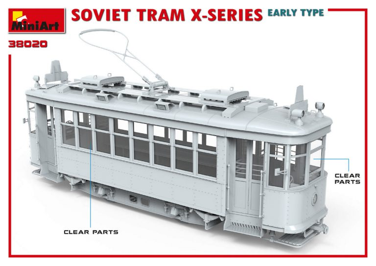 38020 SOVIET TRAM X-SERIES. EARLY TYPE
