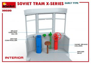 3D renders 38020 SOVIET TRAM X-SERIES. EARLY TYPE