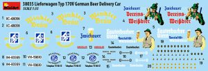 Content box 38035 LIEFERWAGEN TYP 170V GERMAN BEER DELIVERY CAR