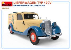 3D renders 38035 LIEFERWAGEN TYP 170V GERMAN BEER DELIVERY CAR
