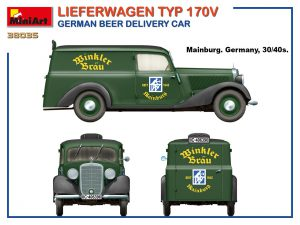 Side views 38035 LIEFERWAGEN TYP 170V GERMAN BEER DELIVERY CAR