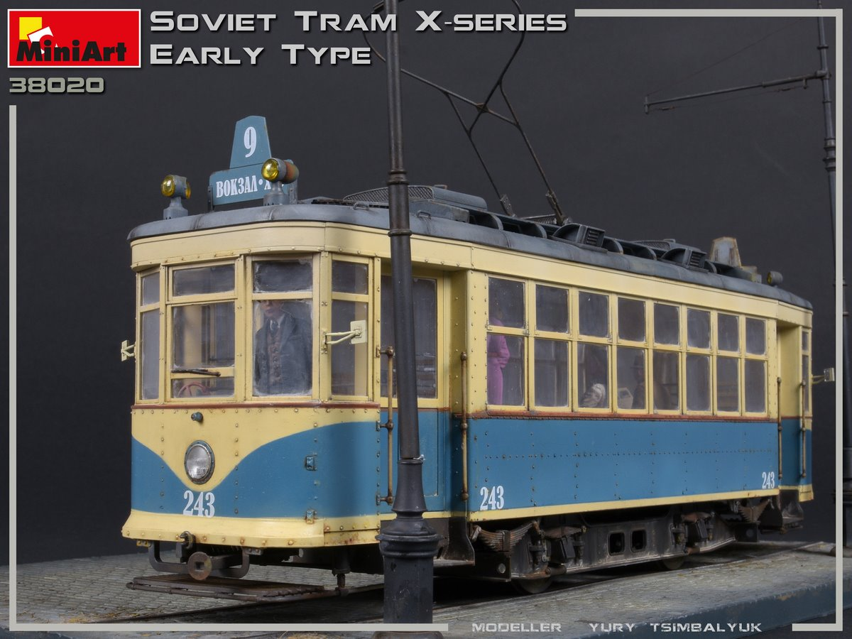New Photos of Kit: 38020 SOVIET TRAM X-SERIES. EARLY TYPE by Yury Tsimbalyuk