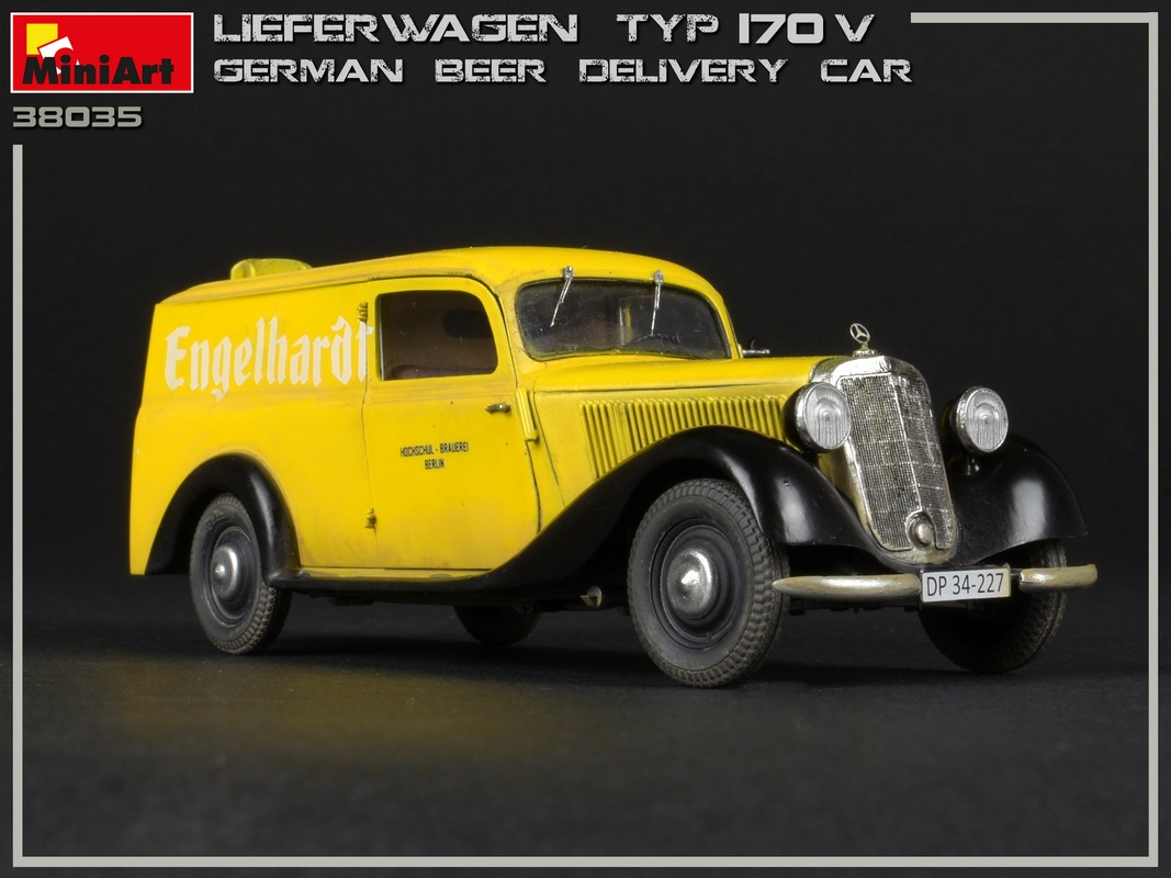 New Photos of Kit: 38035 LIEFERWAGEN TYP 170V GERMAN BEER DELIVERY CAR