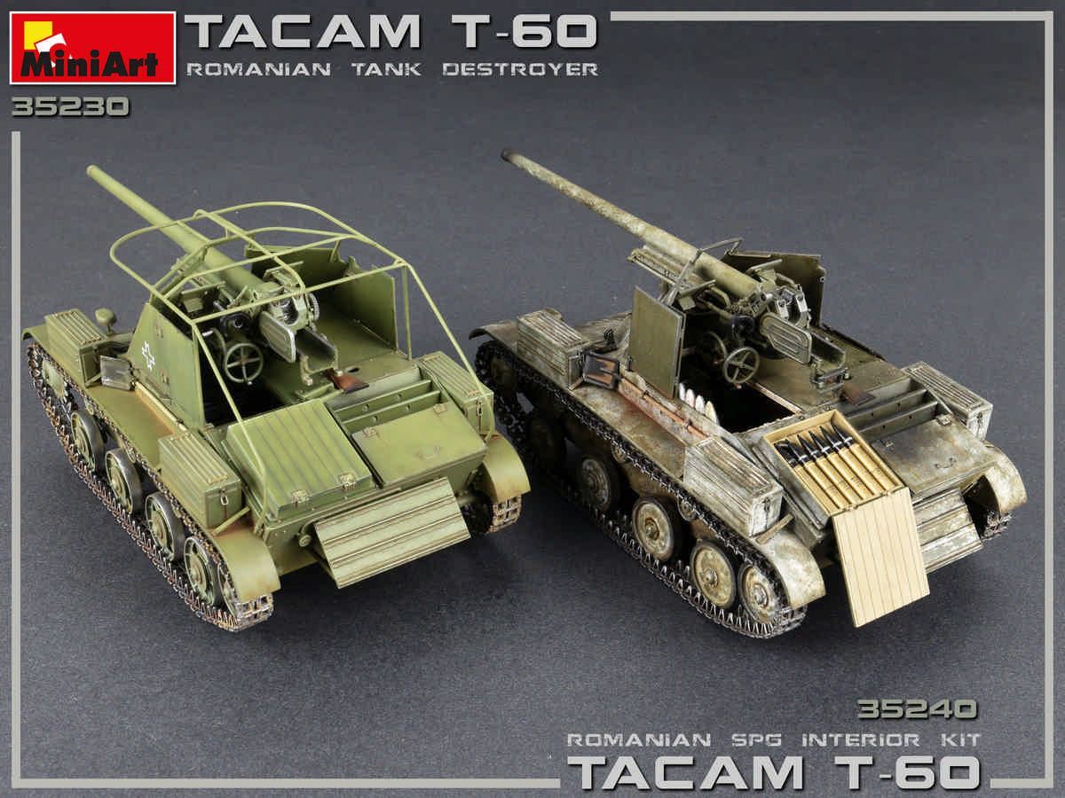 Interior Kit Neu Miniart 35230-1:35 Tacam T-60 Romanian Tank Destroyer