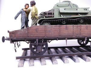 35303 SOVIET RAILWAY FLATBED 16,5-18t + 35243 T-80 SOVIET LIGHT TANK w/CREW. SPECIAL EDITION + Steve Palffy