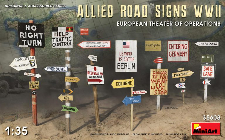 35608 ALLIED ROAD SIGNS WWII. EUROPEAN THEATRE OF OPERATIONS