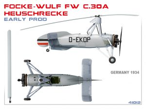 Side views 41012 FOCKE-WULF FW C.30A HEUSCHRECKE. EARLY PROD