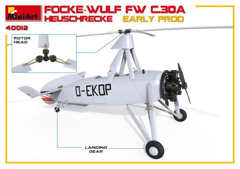 41012 FOCKE-WULF FW C.30A HEUSCHRECKE. EARLY PROD