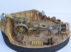 35192 GERMAN ARTILLERY CREW. SPECIAL EDITION + 35550 WOODEN BARRELS & VILLAGE UTENSILS + Clément Decaux