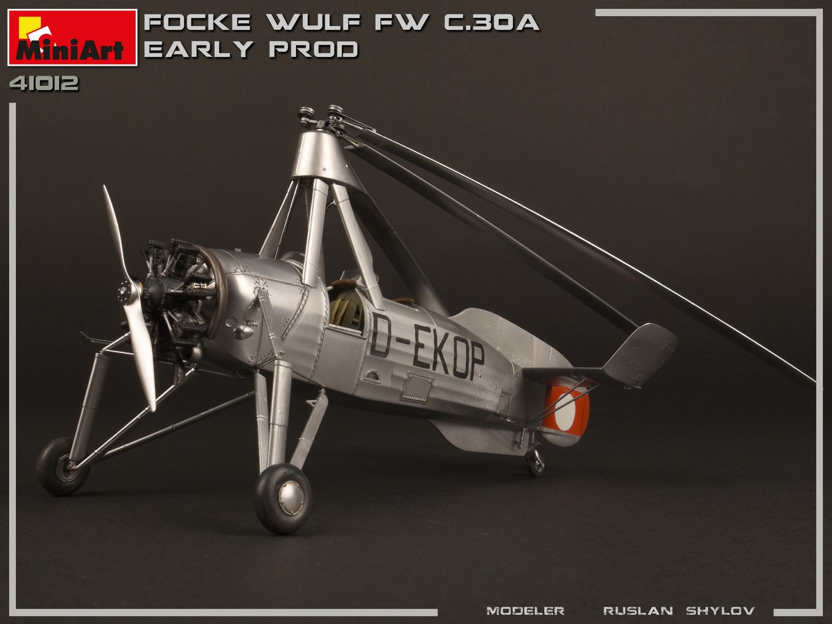 New Photos of Kit: 41012 FOCKE-WULF FW C.30A HEUSCHRECKE. EARLY PROD + Ruslan Shylov