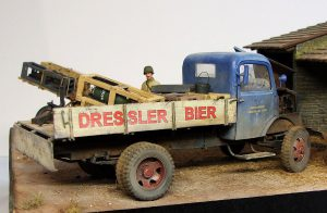 35273 SCHWERES WURFGERAT 40 + 35269 GERMAN ROCKET LAUNCHER with 28cm WK Spr & 32cm WK Flamm + 38014 GERMAN CARGO TRUCK L1500S + 35558 EUROPEAN FARMYARD + David Coyne