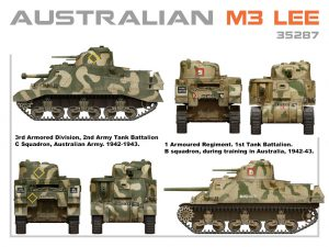 Side views 35287 AUSTRALIAN M3 LEE. INTERIOR KIT