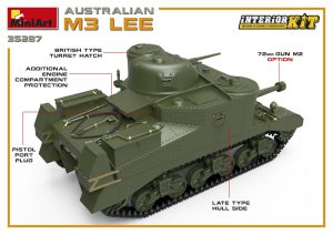 3D renders 35287 AUSTRALIAN M3 LEE. INTERIOR KIT