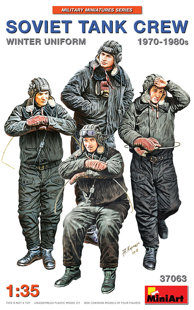 37063 SOVIET TANK CREW 1970-1980s. WINTER UNIFORM