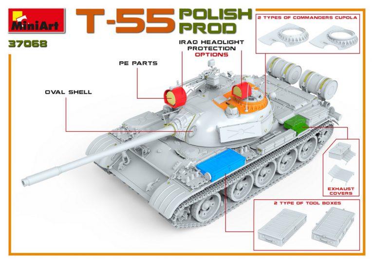 37068 T-55ポーランド製